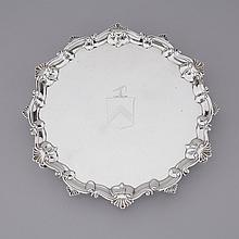 George III Silver Salver, Thomas Hannam & Richard Mills, London, 1764, diameter 12.1