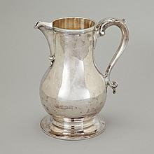 English Silver George II Style Baluster Water Jug, Wakely & Wheeler, London, 1966, height 8.5