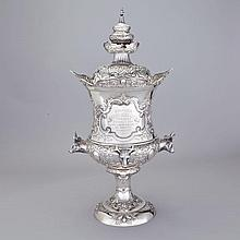 The Ayrshire Herd Book Cup  Impressive Victorian Scottish Silver Covered Cup, Brown Kilk, Glasgow, 1895, height 29