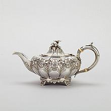George IV Silver Small Teapot, Richard Pierce & George Burrows, London, 1827, height 3.8