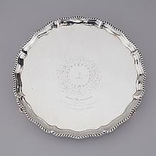George III Silver Circular Salver, Elizabeth Cooke, London, 1771, diameter 12.4