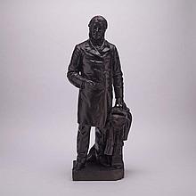 Louis-Philippe Hébert, R.C.A. (1850-1917), SIR CHARLES TUPPER, 1889, height 28.5