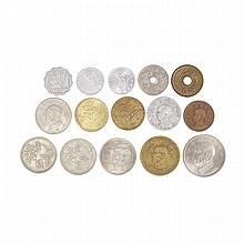 Republic of China, Formosa and Japanese Coins, Early to Mid 20th Century, 20?????? ???????????? (15 Pieces)