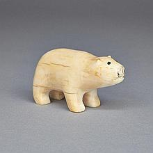 MARK TUNGILIK (1913-1986), POLAR BEAR, ivory, 1.5