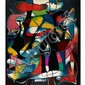 Julian Morales (1937-1990),Cuban UNTITLED (ABSTRACT STAIN GLASS WINDOW); Oil on board; signed and dated 88 lower right.54