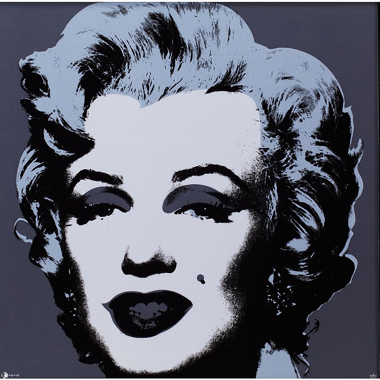 After Andy Warhol (1928-1987), American MARILYN GREY-BLACK ON PORCELAIN TILE (ROSENTHAL EDITION), 2010; Silkscreen on glazed porcelain; signed in the plate lower left, numbered 35, from the limited edition of 49, manufactured by Rosenthal, Germany,