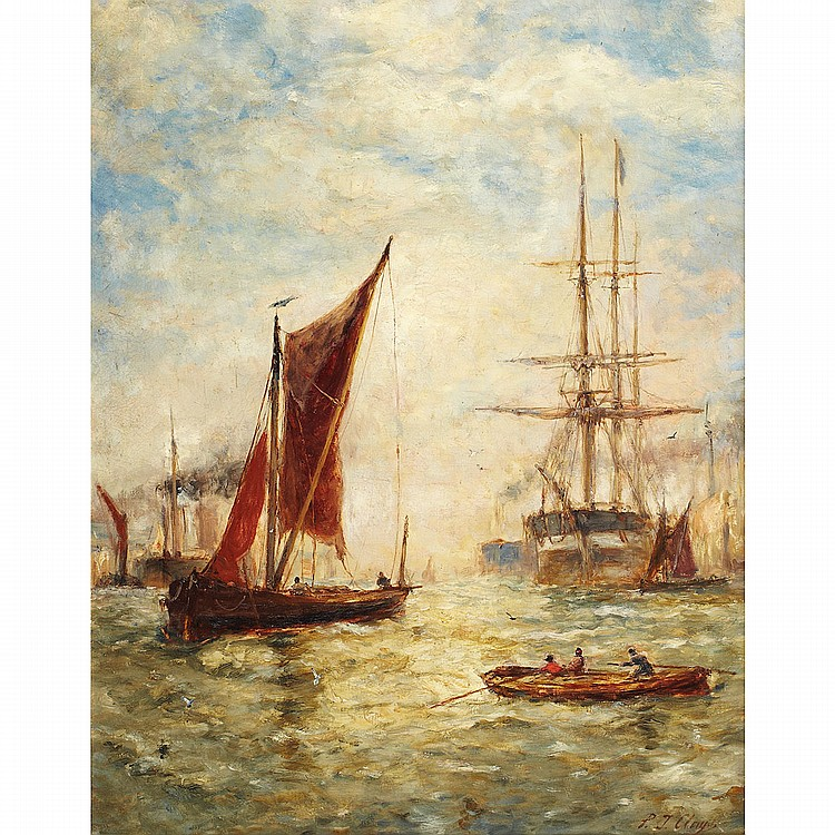 Paul Jean Clays (1819-1900), Belgian BOATS IN A HARBOUR; Oil on canvas; signed lower right24.75