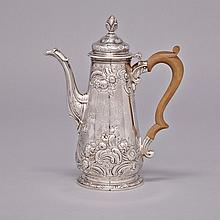 George II Silver Coffee Pot, William Cripps, London, 1750, height 10.2