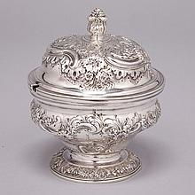 George II Silver Covered Sugar Bowl, Henry Morris, London, 1749, height 5.3