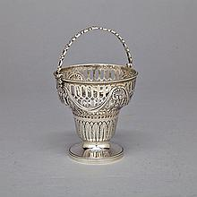 George III Silver Sugar Basket, Henry Green, London, 1790, height 6