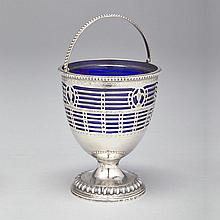 George III Silver Sugar Basket, Sebastian & James Crespell, London, 1771, height 7.2