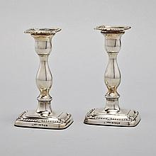 Pair of George III Silver Table Candlesticks, William Tucker & Co., Sheffield, 1808, height 7.1