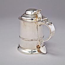 George II Silver Tankard, Richard Bayley, London, 1746, height 6.9