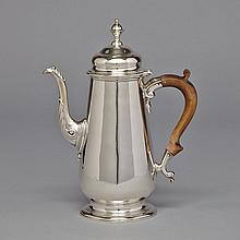 George II Silver Coffee Pot, London, 1749, height 9.8