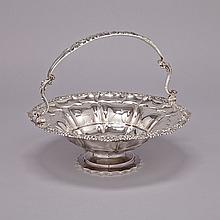 William IV Silver Circular Cake Basket, Charles Thomas Fox, London, 1830, height 11.4