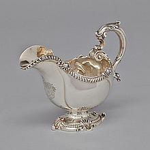 Victorian Silver Large Sauce Boat, Robert Garrard, London, 1849, height 7.3