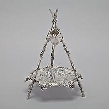 Victorian Silver Grape Stand, Edward Charles Brown, London, 1867, height 15
