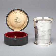Victorian Silver Collapsible Beaker, William Thomas Wright & Frederick Davies, London, 1875, height 2.9