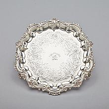 William IV Silver Salver, William Ker Reid, London, 1836, diameter 9.7