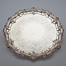William IV Silver Circular Salver, London, 1831, diameter 17.5
