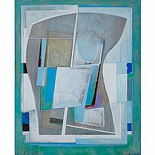 PATRICK LANDSLEY (1926 - ), DELPHI, MIXED MEDIA ON MASONITE; SIGNED, DATED '86 AND TITLED VERSO, 59.5