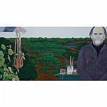 LUTHER POKRANT (1947 - ), R.C.A., IVAN EYRE, OIL ON CANVAS; SIGNED AND DATED 1982; TITLED TO LABEL VERSO, 37
