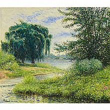 GEZA BIRO (1919 - 2008), THE WILLOW TREE, OIL ON CANVAS; SIGNED AND DATED 1985, 28