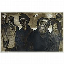 DAVID BLACKWOOD (1941 - ), AUTOBIOGRAPHY: FACES, STEEL ENGRAVING; SIGNED, DATED 1969, TITLED AND  INSCRIBED 7/25, 22