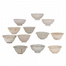 Set of Twelve Vung Tau Cargo Bowls, Circa 1690, ?1690? ??????????12?, largest diameter 4.9