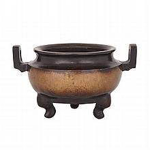 Tripod Censer with Bronze and Silver Inlays, ??????????, height 5.7