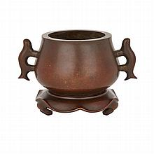 Bronze Censer with Stand, ?????, height 5.3