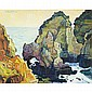 Robert Daughters (1929- ), American THE ALGARVE; Oil on canvas; signed upper left16