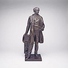 LOUIS-PHILIPPE HÉBERT, R.C.A., SIR WILFRED LAURIER, bronze, height 24.75 ins; 62.9 cms
