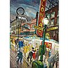 JACK LEONARD SHADBOLT, R.C.A., GRANVILLE STREET AT NIGHT (EVENING, GRANVILLE STREET; GRANVILLE STREET, WARTIME), 1946, watercolour, 31 ins x 23 ins; 78.7 cms x 58.4 cms