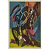 Stanley William Hayter (1901-1988), COMBAT, 1953 [BLACK/MOOREHEAD, 210], Colour engraving with soft-ground etching; signed, numbered 31/220 and dated '53 in pencil to margin, signed
