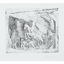 Pablo Picasso (1881-1973), RAPT, AVEC CELESTINE, RUFFIAN, FILLE ET SEIGNEUR AVEC SON VALET (PLATE 98 FROM THE 347 SERIES), 1968 [BLOCH, 1578], Aquatint; signed in pencil lower right margin and numbered 22/50 in pencil lower left margin. Published by