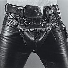 Robert Mapplethorpe (1946-1989), LEATHER CROTCH, 1980 [MAP, 524], Silver print; inscribed