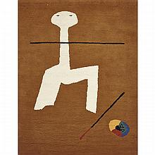 Joan Miro (1893-1983), UNTITLED (RUG), FRANCE, MID 20TH CENTURY, Wool pile; stitched signature in red thread verso, 78