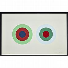 Claude Tousignant (1932-), SANS TITRE (SERIES OF SIX ABSTRACTS), 1975, Six colour silkscreens on paper; each signed and dated 75 in pencil lower right, each plate in the series from #1-#6 are numbered in order as follows: #1 - 55/60;#2 - 53/60;#3 -
