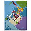 LeRoy Neiman (1921-2012), SKATEBOARDER, Colour silkscreen; signed and dated '77 in the plate lower right; signed in black ink to the margin. With Certificate of Authenticity., 23.5