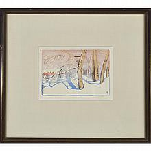 Walter Joseph Phillips (1884-1963), TREE SHADOWS ON SNOW, 1922 [MBL65], Colour woodcut; signed in pencil to margin, titled to label verso. Executed in an unknown edition., Plate 4.1