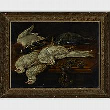 School of Jan Fyt (1611-1661), PHEASANTS (ON A TABLE WITH PLUMS), 24