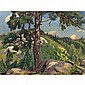 ARTHUR LISMER, O.S.A., R.C.A., THE PINE TREE, oil on board, 12 ins x 16 ins; 30 cms x 40 cms