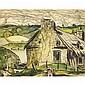 MARC-AURELE FORTIN, A.R.C.A.,  PAYSAGE AU QUEBEC, watercolour and charcoal, 22 ins x 28 ins; 55 cms x 70 cms