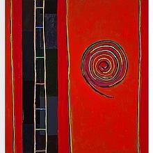 DAVID BOLDUC, BASS CULTURE, acrylic on canvas, 96 ins x 90 ins; 243.8 cms x 228.6 cms