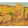 ALFRED JOSEPH CASSON, O.S.A., P.R.C.A., GOLDEN VALLEY, oil on board, 9.5 ins x 11.25 ins; 24.1 cms x 28.6 cms