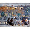 RANDOLPH STANLEY HEWTON, R.C.A., PARIS, 1912, oil on board, 7.5 ins x 9.5 ins; 19.1 cms x 24.1 cms
