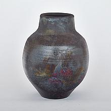 LETA CORMIER, LUSTRE VASE, height 10.75
