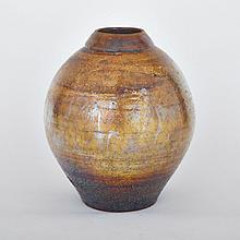 LETA CORMIER, LUSTRE VASE, height 11