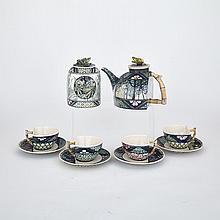PATRICK HURST (1947 - ), TEA SERVICE, teapot 6.5